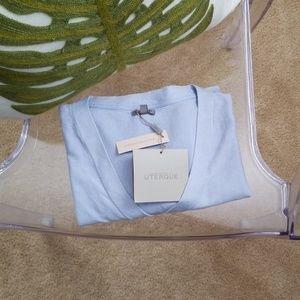 Uterqüe Extra-fine Silk/ Cotton V-neck Sweater M